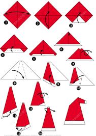 How To Make A Origami Santa - how to make an origami santa cap step by step free