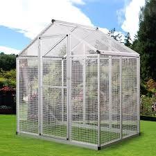 heat l for bird aviary lazymoon vision large bird cage silver aluminum bird aviary walk in