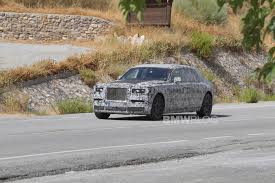 the new rolls royce phantom was spotted in spain