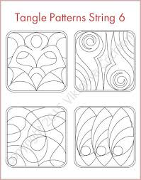 pattern art pdf strings for drawing zentangles tangle pattern printable string pdf