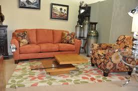 Orange Sofa Living Room Ideas Living Room Floral Pattern Rug Orange Sofa Floral Pattern Chair