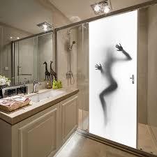 funlife 77x200cm woman silhouette u0026 peering design vinyl diy