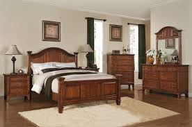 Rustic Looking Bedroom Design Ideas Bedroom Brown Traditional Hard Wood Varnished Sleigh Bed Cream