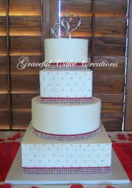 rhinestone cake white wedding cake with ribbon and rhinestone flickr