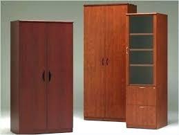 Wooden Storage Closet With Doors Amazing Office Storage Cabinet Ipbworks Wood Storage Cabinets With