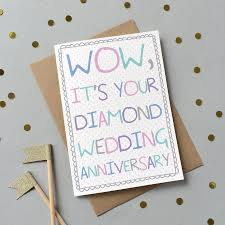 60th Wedding Anniversary Greetings 60th Wedding Anniversary Cards Thank You For Cards Party