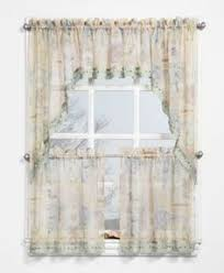 butterfly embroidered kitchen tiers valance and swags valance