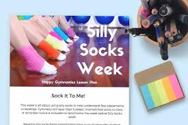 silly socks week happy gymnastics