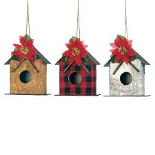 birdhouse home decor little birdhouse christmas ornament set wholesale at koehler home