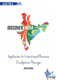 International Business Manager Aiesec India International Nst Application