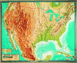 Geo Mapping Geo Institut Raised Relief Maps Usa Relief Map