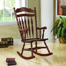 Broken Rocking Chair Amazon Com Coaster Rocking Chair With Carved Detail In Medium