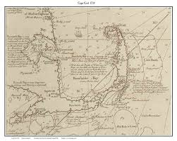 cape cod 1734 map showing pirate ship whydah sinking custom
