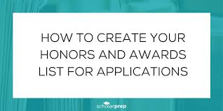 Honors And Activities For Resume How To Create Your Honors And Awards List For Applications