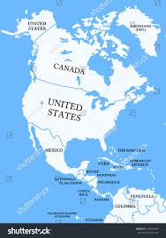 north america map countries stock illustration 109624406
