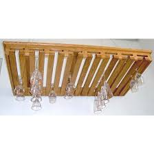 stemware racks 40 glass hanging solid red oak stemware rack by