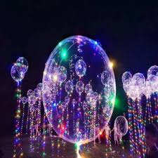 balloons led lights up bobo transparent colorful