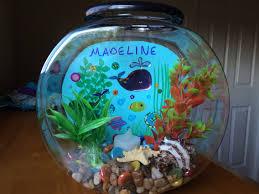 diy fishbowl craft for kids plastic 1 gallon fishbowl blue