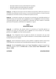 association modification bureau statut de l association algérienne de paintball calameo downloader