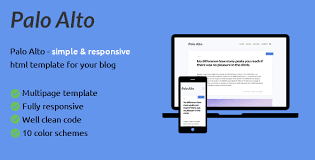 palo alto is html blog template by stylesam themeforest