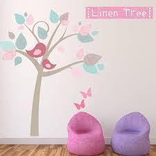 linen tree fabric wall sticker by littleprints linen tree fabric wall sticker