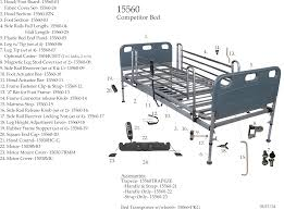 Parts For Bed Frame Competitor Semi Electric Bed Replacement Parts Parts For