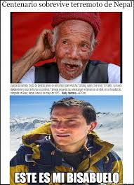 Meme Bear Grylls - bear grylls se siente orgulloso de su bisabuelo nepalés