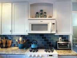 Blue Kitchen Tiles Lisa U0027s Kitchen With Blue Tile 2 Hooked On Houses