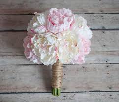 peony bouquet ivory and blush pink peony wedding bouquet rustic peony bouquet