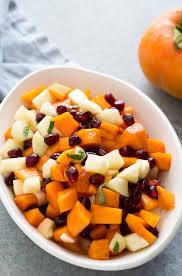 thanksgiving fruit recipes persimmon pomegranate fruit salad recipe simplyrecipes com