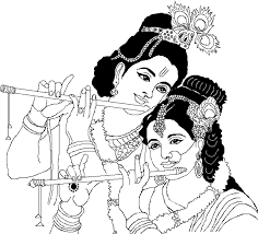 pictures lord radha krishna coloring pictures drawing art gallery