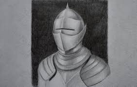 how to draw metal drawing an armor fine art tips youtube