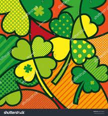 clover leaf modern pop art graphic stock vector 689176666