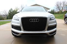 audi aftermarket grill rs grille install on q7 s line pics audiworld forums