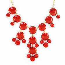 resin bead necklace images Red bubble necklace bauble bib necklace with hanging beads jpg