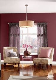 the combination of behr paint in pink mirage and formal maroon