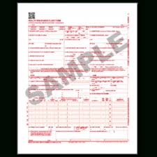 cms 1500 02 12 claim form laser 1 part white paper red ocr