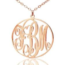 Monogrammed Necklace 10 Best Rose Gold Monogram Necklace Images On Pinterest Monogram