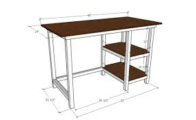 Desk Plans Diy Diy Farmhouse Desk Free Building Plans The Creative