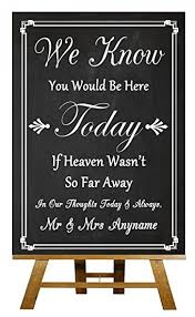 in loving memory wedding a4 vintage chalkboard in loving memory absence personalised