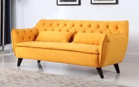 Modern Yellow Sofa Louise Mid Century Modern Sofa Sofamania