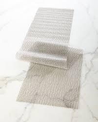 chilewich lattice silver table runner