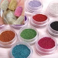 Nail Decorations Amazon Com Fashion Caviar Nails Art New 12 Colors Plastic Beads