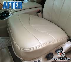 Seat Upholstery 2000 2003 Ford F 150 Lariat Leather Seat Cover Driver Bottom Tan