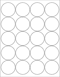 1 Inch Circle Template by Label Templates Laser And Inkjet Printers Sheetlabels