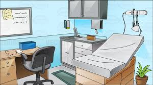 Physician Office Furniture by Office Cartoon Clipart