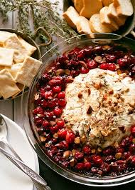 this fancy baked goat cheese roasted cranberry appetizer recipe is