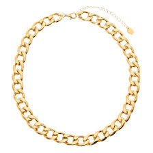 chain link necklace with images Thick gold chain link necklace claire 39 s ca jpg