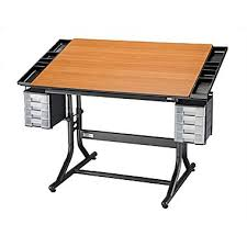Drafting Table With Computer Alvin And Co Craftmaster Ii Wood Drafting Table Black Base