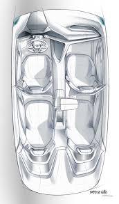 bmw vision future luxury sketch interior top view 04 2014